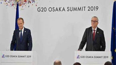 Photo of زعماء الاتحاد الأوروبي واليابان يحذرون من أضرار الحرب التجارية على النمو العالمي