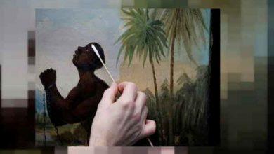 Photo of حماة الفن في بريطانيا يرممون لوحة نادرة عن العبودية