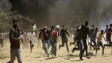 Photo of عشرات الفلسطينيين يشتبكون مع الجيش الإسرائيلي ومستوطنين لمنع مصادرة أراض