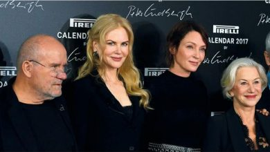 Photo of نجمات هوليوود بالابيض والاسود «عاريات» بملابسهن على روزنامة بيريلي 2017