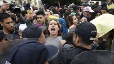 Photo of الجزائر: الشرطة تفرق بالقوة تظاهرة طلابية معارضة للانتخابات