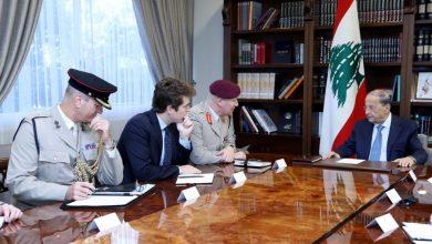 Photo of الرئيس عون تبلغ من مستشار وزارة الدفاع البريطانية استمرار دعم الجيش