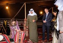 Photo of سهرة بدوية استثنائية للأمير وليام في الكويت بخيمة في الصحراء