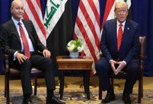 Photo of ترامب والرئيس العراقي يتفقان على بقاء الدور العسكري الاميركي في العراق