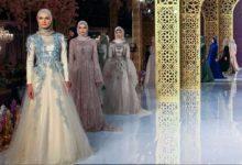 Photo of مجموعة من الملابس الإسلامية من تصميم ابنة الرئيس الشيشاني في عرض للأزياء بباريس