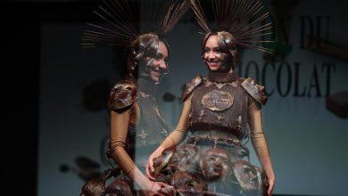 Photo of الموضة تعانق الشوكولاتة في عرض للأزياء في بلجيكا
