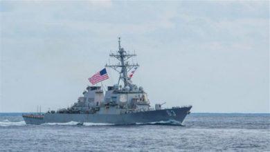 Photo of سفينة حربية أميركية تصادر أسلحة في بحر العرب يشتبه بأنها إيرانية