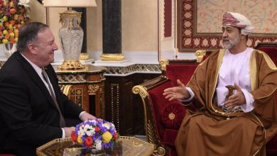Photo of بومبيو يبحث مع سلطان عمان تطورات المنطقة