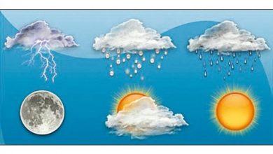 Photo of الطقس غائم مع انخفاض ملموس في الحرارة وامطار خفيفة