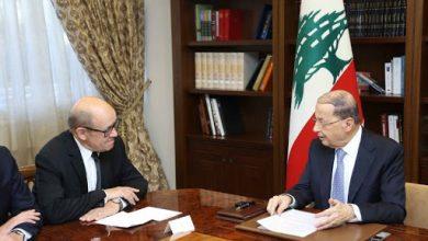 Photo of لودريان يجول على المسؤولين اللبنانيين بدءاً من رئيس الجمهورية