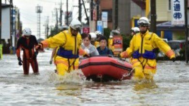 Photo of أمطار غزيرة تهطل على وسط اليابان ومخاوف من مقتل 61 شخصاً