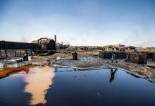 Photo of بقع نفط تتسرّب إلى نهر في شمال شرق سوريا وتضرّ بالمحاصيل والماشية