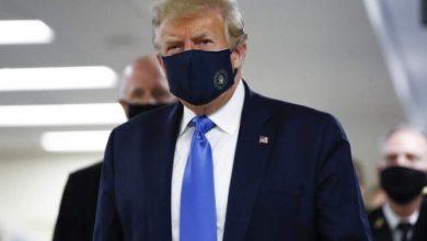 Photo of ترامب يضع كمامة علناً للمرة الأولى