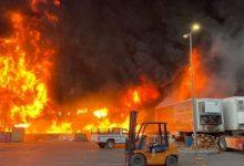 Photo of حريق في منطقة صناعية قرب طهران