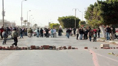 Photo of قطع طريق نفق البربير باتجاه المتحف