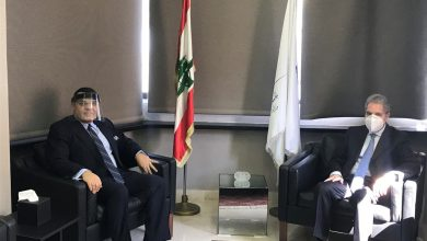 Photo of وزني بحث مع سفير مصر في المساعدات الطبية للبنان