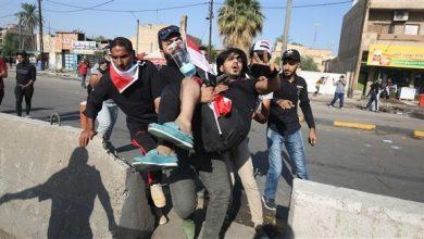 Photo of إصابة خمسة في تظاهرة ببغداد فرقتها قوى الامن بالهراوات