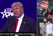 Photo of ترامب في أول خطاب منذ خروجه من البيت الأبيض… هجوم على الديموقراطيين وتلميح لترشح ثالث