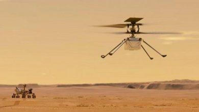 Photo of المروحية «إنجينيويتي» تحلق في اجواء المريخ في أول طلعة من نوعها على كوكب آخر