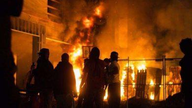 Photo of احتجاجات في مينيابوليس بعد مقتل أميركي أسود على أيدي الشرطة