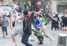 Photo of صدامات في مونتريال بين مؤيدين للفلسطينيين ومناصرين لاسرائيل وترودو يندد
