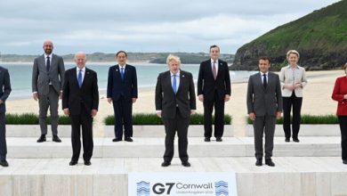 Photo of مجموعة السبع: مطالبات لروسيا والصين باحترام حقوق الإنسان وتعهد بتسريع التصدي للتغير المناخي