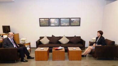 Photo of جعجع بحث مع فرونتسكا في تأليف لجنة دولية تحقق في انفجار المرفأ