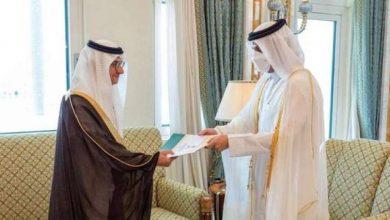 Photo of وزير خارجية قطر يتسلم أوراق اعتماد سفير السعودية بعد إعادة العلاقات بين البلدين