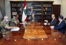 Photo of عون ترأس اجتماعاً للوفد اللبناني الى المفاوضات غير المباشرة لترسيم الحدود البحرية الجنوبية