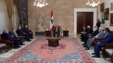 Photo of عون التقى الأسمر على رأس وفد من الاتحاد العمالي العام